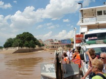 Crossing the Mekong river