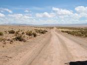 A Bolivian desert road