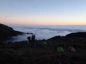 Camping above the clouds