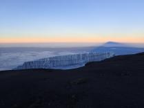 Glacier at the top plus shadow