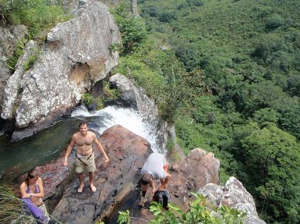 100ft waterfall