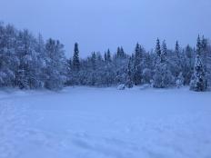 A frozen lake