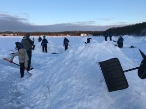 A heap of snow