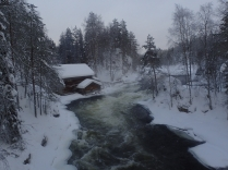 A hut and a rapid
