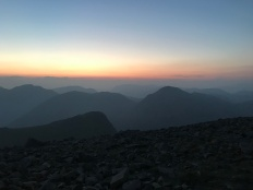 Sunset from Scafell Pike