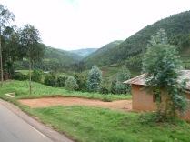 The corner of a Rwandan building