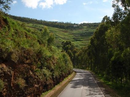 The Rwandan scenery