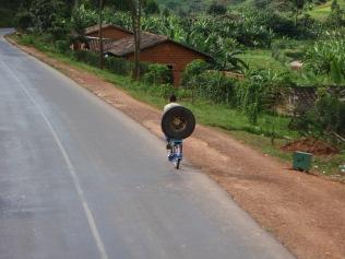 Spare bike tyre?