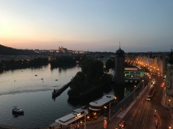 Prague at sundown