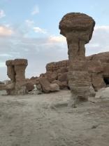 A column of rock