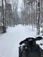 A snowmobile track