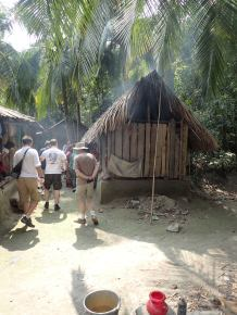 The wood/mud hut