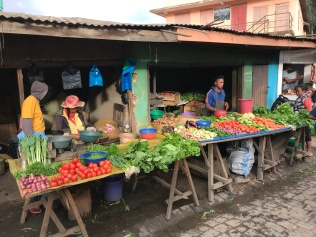 The local veg market