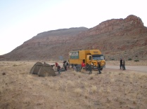Road side camping